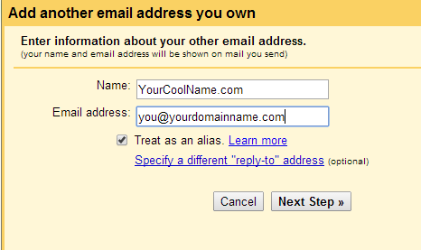 how to create an alias on gmail
